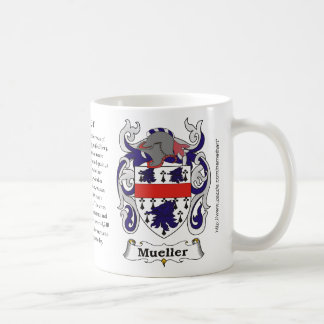 Mueller, the origin and meaning on a mug