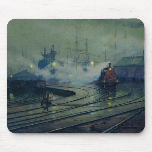 Muelles de Cardiff, 1896 Tapetes De Raton