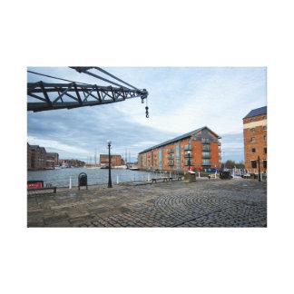 Muelles de Gloucester Impresión En Lienzo