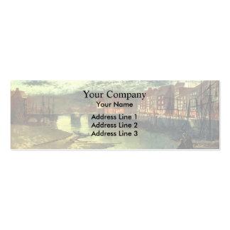 Muelles de Juan Atkinson Grimshaw- Whitby Tarjeta De Negocio