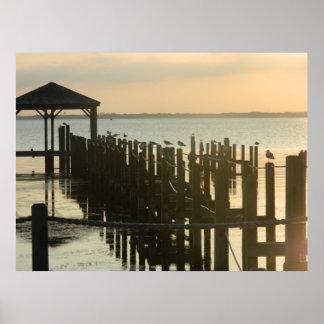 Muelles de la pesca de Carolina del Norte del pato Impresiones