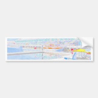 Muelles del color de agua pegatina para auto