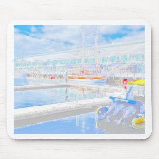 Muelles del color de agua tapetes de ratón