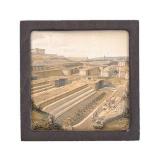 Muelles en Sebastopol, placa 'de Seat de la guerra Caja De Recuerdo De Calidad