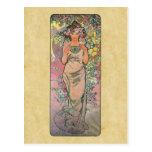 Muera color de rosa por Alfons Mucha 1898 Tarjetas Postales