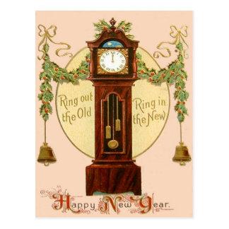 Muérdago Bell del acebo del reloj de pie Tarjeta Postal
