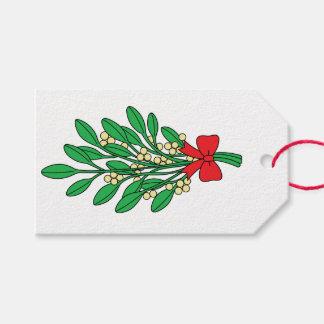 Muérdago de las Felices Navidad Etiquetas Para Regalos