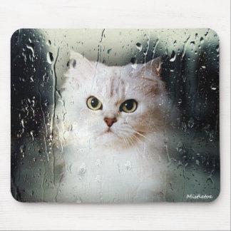 Muérdago el cojín de ratón de plata del gato persa alfombrillas de ratones