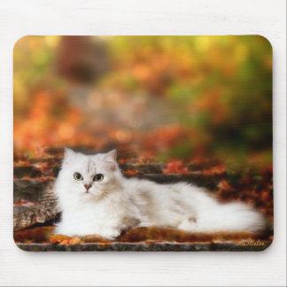 Muérdago el cojín de ratón del gato persa mousepads