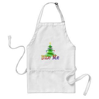 Muérdame árbol de navidad delantal