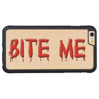 Muérdame caso del iPhone 6 de la sangre Funda De Arce Bumper Carved® Para iPhone 6 Plus