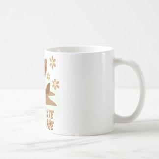 Muérdame conejito del chocolate tazas de café