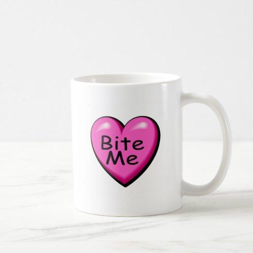 Muérdame corazón del caramelo taza de café