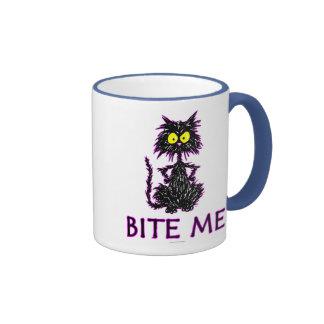 ¡Muérdame! Diseños del regalo del gato Tazas De Café