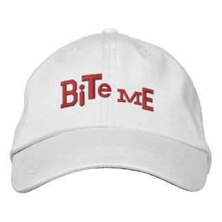 MUÉRDAME gorra ecléctico del bordado de Halloween Gorra De Beisbol