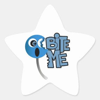 Muérdame - lechón (2) pegatina en forma de estrella