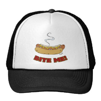 Muérdame - perrito caliente gorras