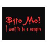 Muérdame que quiero ser un vampiro tarjetas publicitarias