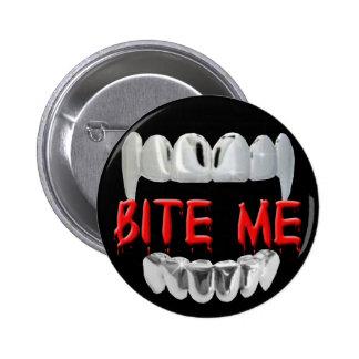 Muérdame sangre y botón de los dientes pin redondo de 2 pulgadas