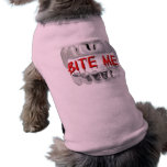 Muérdame sangre y camisa del perro de los dientes ropa de perros