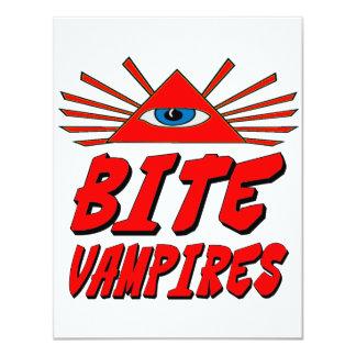"Muerdo a vampiros invitación 4.25"" x 5.5"""