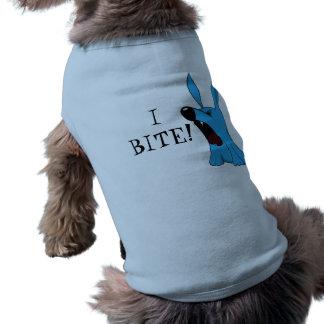 ¡MUERDO! ¡Camisa del perro! Playera Sin Mangas Para Perro