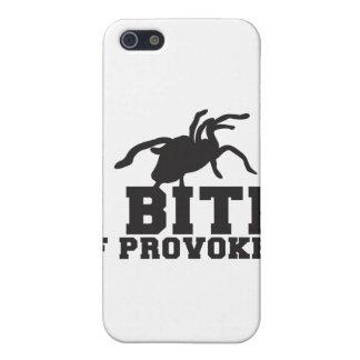 Muerdo si diseño PROVOCADO del ack del Tarantula d iPhone 5 Carcasas