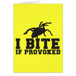 Muerdo si diseño PROVOCADO del ataque del Tarantul Tarjeta
