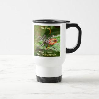 Muerdo sí el insecto de asesino taza de viaje de acero inoxidable