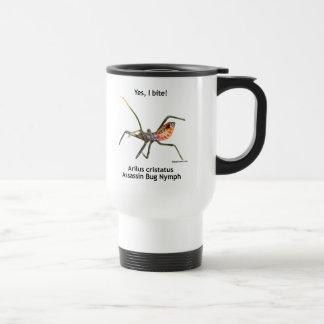 Muerdo sí el insecto de asesino taza de viaje