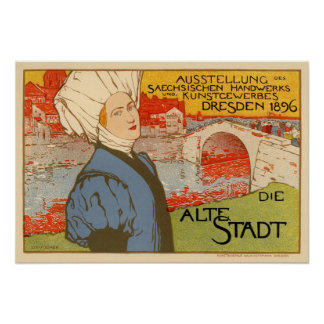 Muere Alte Stadt de Otto Fischer Posters