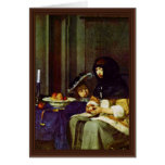 Muere Apfelschälerin por Borch D.J. Gerard Ter Tarjetón