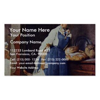 Muere Besorgerin de Chardin Jean-Baptiste Siméon Plantillas De Tarjetas De Visita
