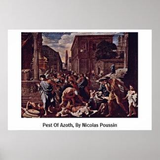 Muere el parásito de Azoth, por Nicolás Poussin Poster