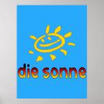 Muere el sonne The Sun en vacaciones de verano ale Poster