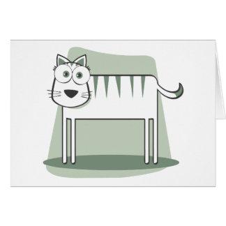 Muere el zum Quadrat de Katze Tarjetón