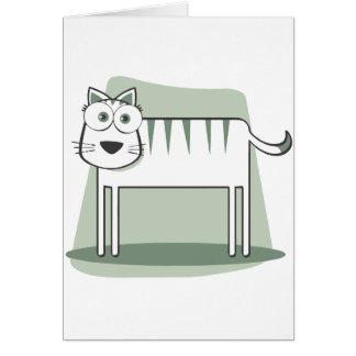 Muere el zum Quadrat de Katze Felicitacion