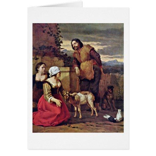 Muere la cabra enferma de Karel Dujardin Tarjeta De Felicitación