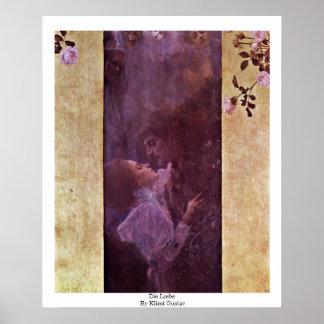 Muere Liebe de Klimt Gustavo Poster