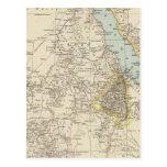 Muere Nillander - mapa del atlas del Nilo Tarjetas Postales