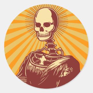 Muerta Lisa Classic Round Sticker