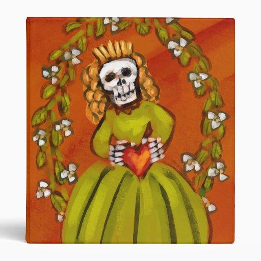 Muerta Skeleton Lady with Heart Binder