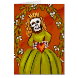 Muerta Skeleton Lady with Heart Cards
