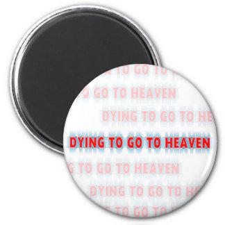 Muerte a ir al imán del cristiano del cielo