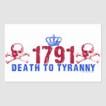 Muerte a la tiranía rectangular pegatina