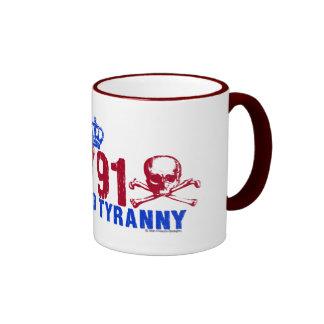 Muerte a la tiranía taza a dos colores