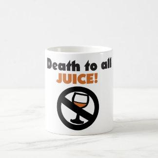 Muerte a todo el jugo taza básica blanca