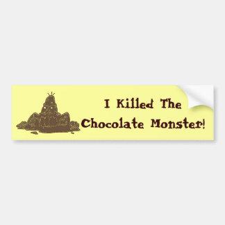 Muerte al chocolate pegatina de parachoque