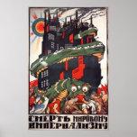 Muerte al imperialismo del mundo póster