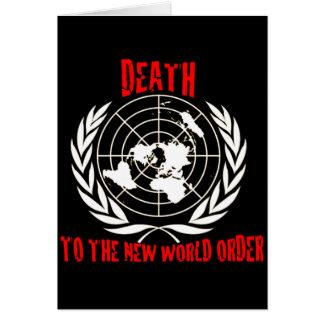 MUERTE AL NUEVO ORDEN MUNDIAL TARJETA DE FELICITACIÓN